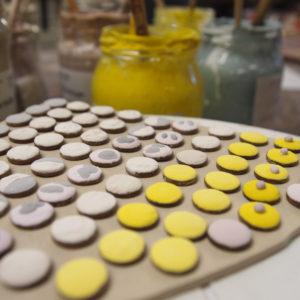kolczyki ceramiczne
