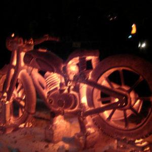 motocykl z ceramiki